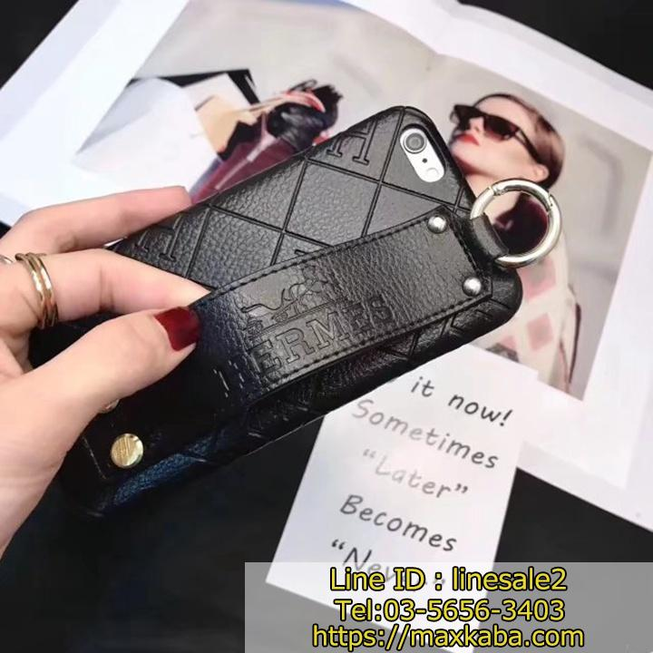 HERMES iPhone8Plusケース 落下防止