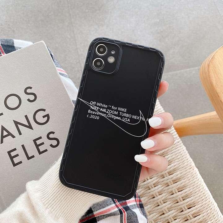 Off White  NIKE コラボ iphone12ケース 黒 一色 IMD iphone12 max ケース アイホン121proスマホカバー かっこいい 運動風 シンプル代金引換をご利用できます