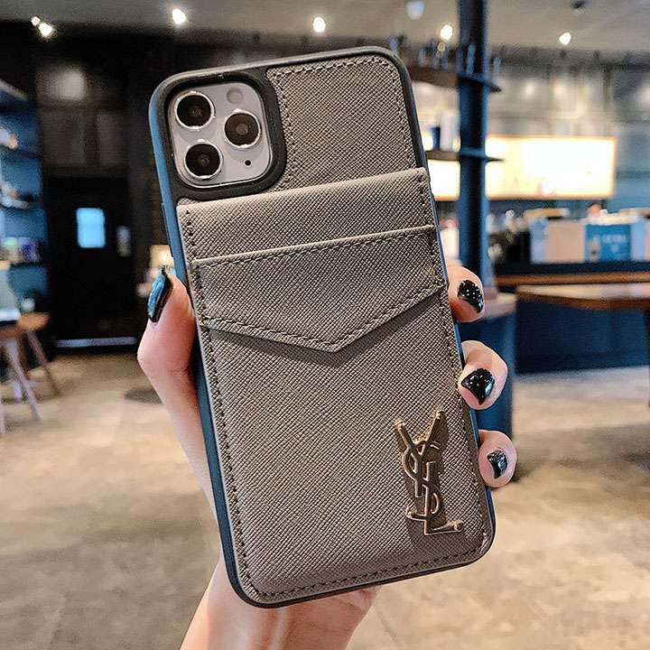 イヴサンローラン iphone12 iphone12proケース ブランド柄 カード収納 アイフォン12pro max ビジネス風 YSL 実用性 セレブ愛用 モノグラム スマホケース LINEで簡単にご注文可