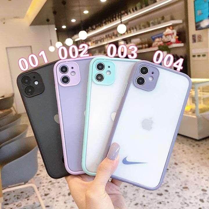 ブランド Nike アイフォン12pro max ケース ブランド柄 アイフォン12 PC製 ユニーク 透明的 ナイキ iphone12mini 簡約風 超人気 配送無料iphone12proカバー セレブ愛用