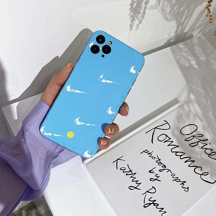 ナイキ NIKE アイフォン12pro maxスマホケース 笑い颜柄 四角保護 iphone12携帯カバーブランド柄 iphone12proケース スポーツ風 iphone12miniケース 送料無料