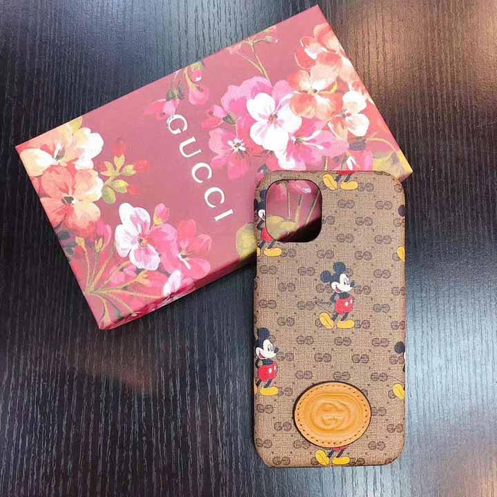 グッチ 送料無料 GUCCI ミッキー iphone12ケース かわいい おじゃれなデザイン iphone12pro maxカバー ブランド ミッキー Gucci iphone12pro携帯ケース 代金引換